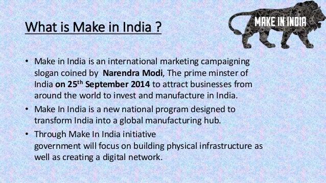 Make In India New