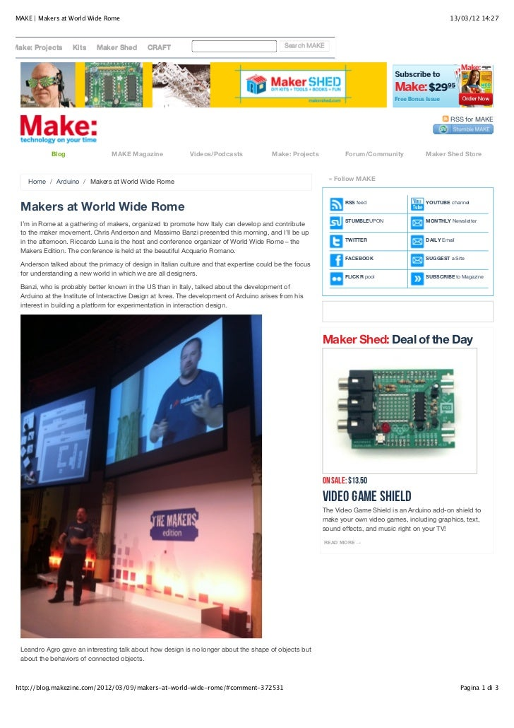 Make | makers at world wide rome