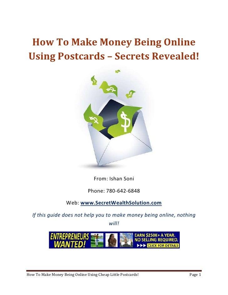 Make Money Being Online