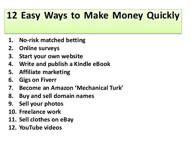 5 Fast Ways to Make Money Online