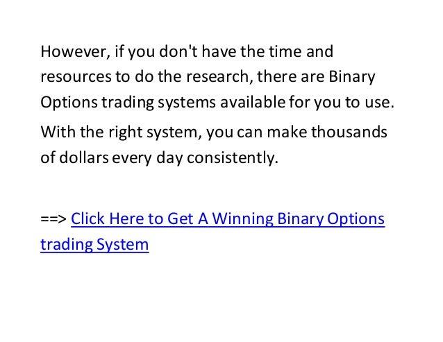 Binary option trading terms