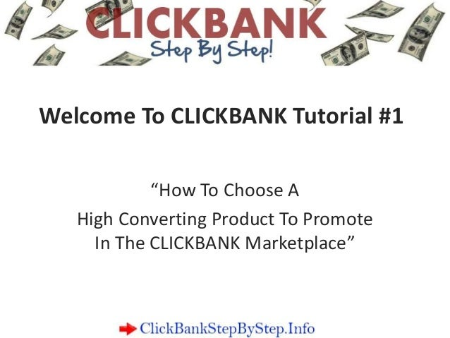 Make Money Online With Clickbank Step By Step Tutorial
