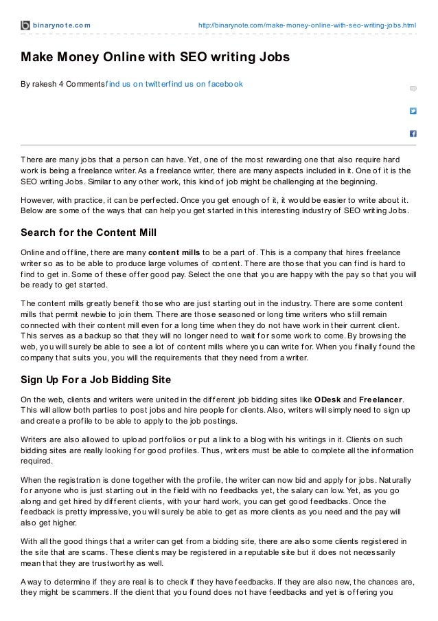 binarynot e.com http://binarynote.com/make-money-online-with-seo-writing-jobs.html Make Money Online with SEO writing Jobs...