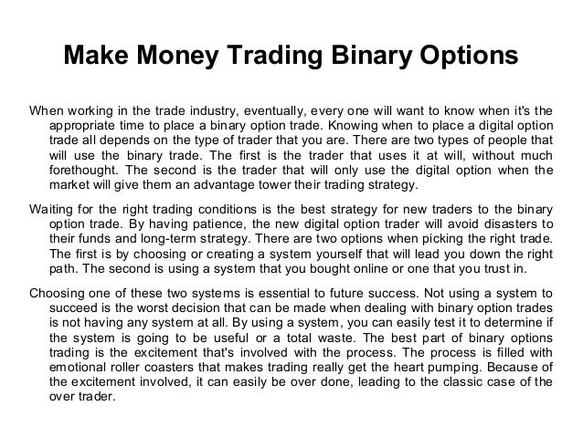 Binary Option Scam To Wire