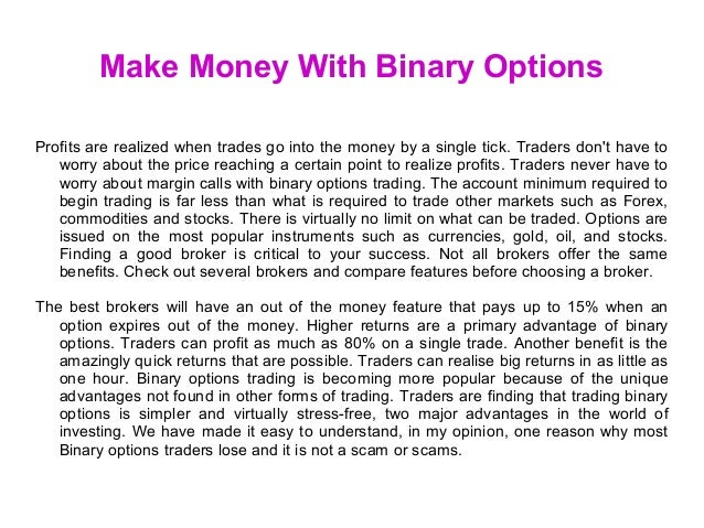 Binary option free money