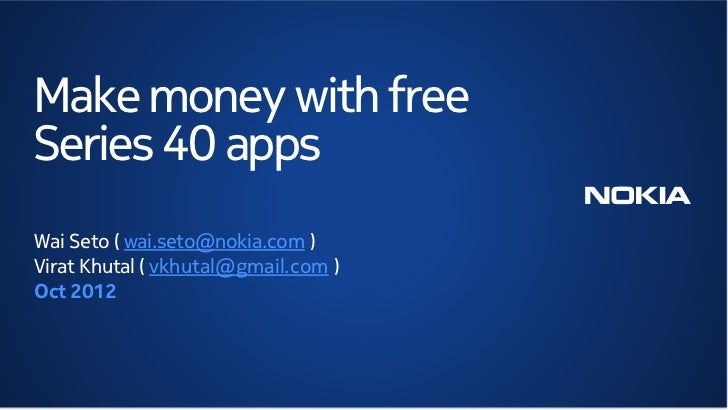 Make money with free Series 40 apps – with Twist Mobile
