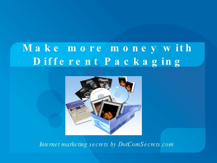 Make More Money With Different Packaging
