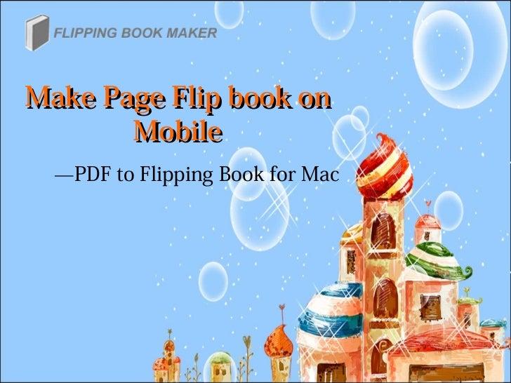 make a pdf presentation flip book