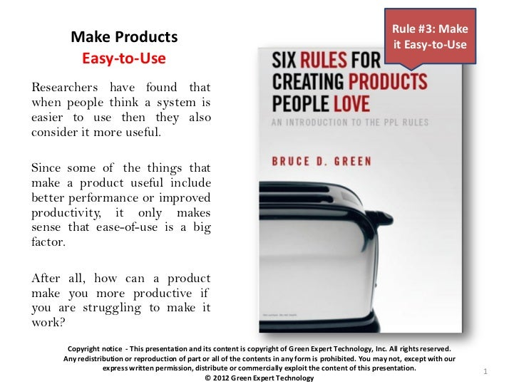 Make products easy to-use