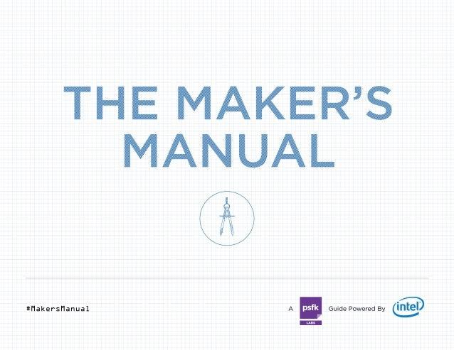 PSFK The Maker's Manual