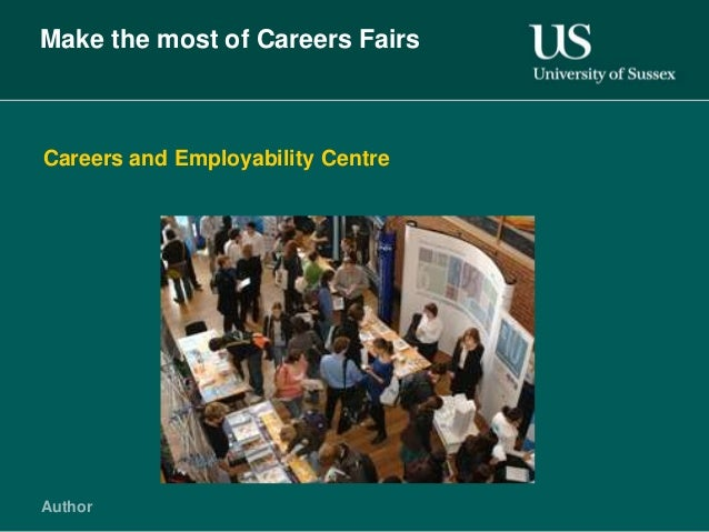 Make the most of Careers FairsCareers and Employability CentreAuthor