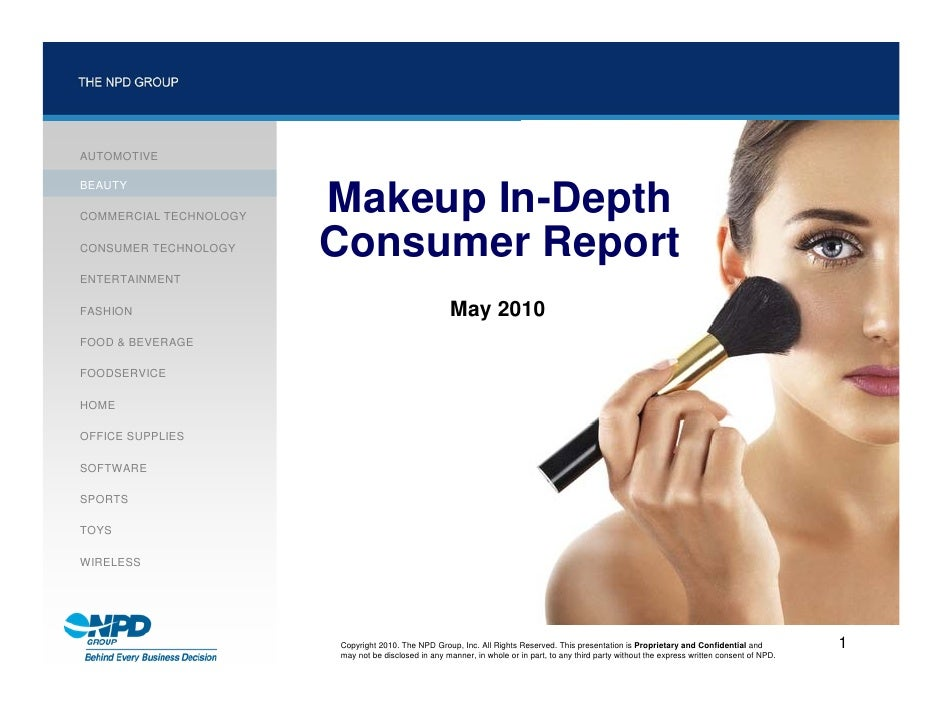 Makeup In Depth Consumer Report 2010