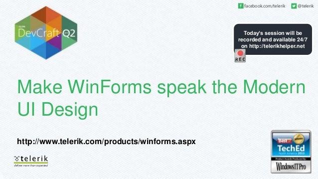 Make windows forms speak the windows 8 modern ui design