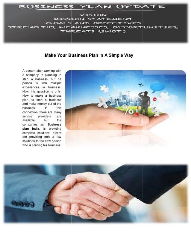 Make simple business plan