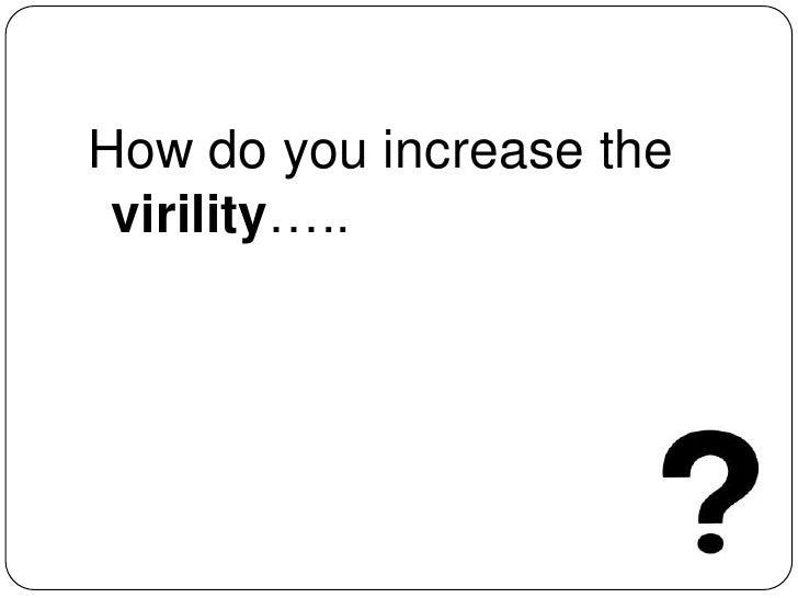 How do you increase the virility…..<br />sriramkri at gmail com<br />@sriramkri<br />http://cn.linkedin.com/in/sriramkrish...