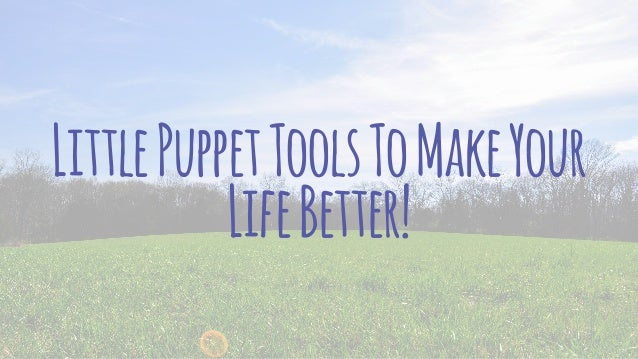Little Puppet Tools To Make Your Life Better
