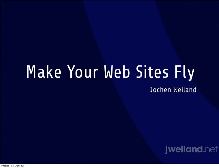 Make Your TYPO3 Web Sites Fly