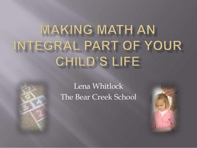 Lena Whitlock The Bear Creek School