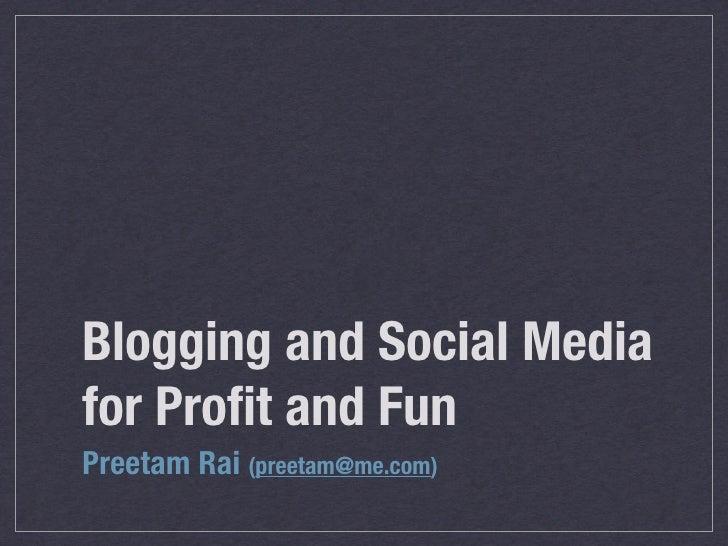 Blogging, Travel, Making Money etc.