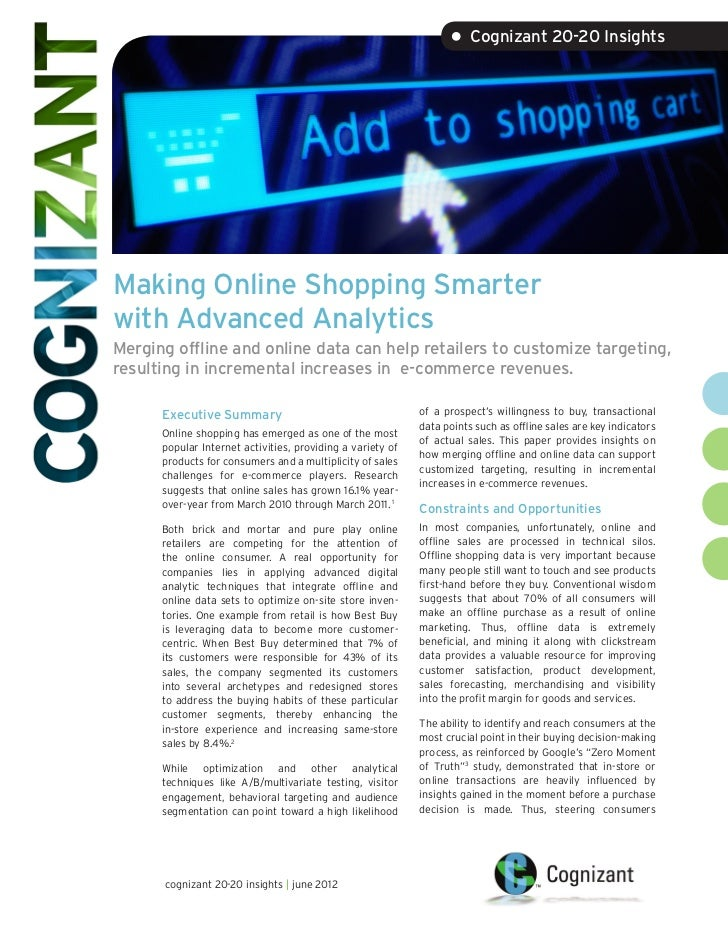 Making Online Shopping Smarter with Advanced Analytics