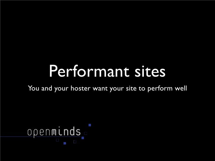 Making performant sites