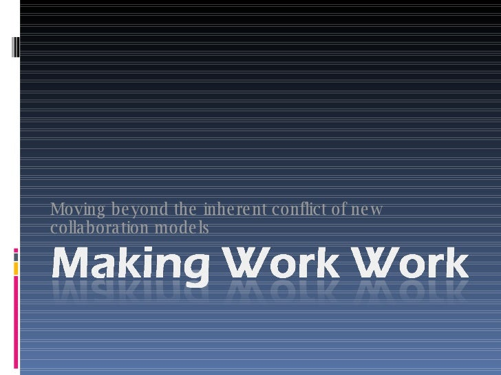 Moving beyond the inherent conflict of new collaboration models
