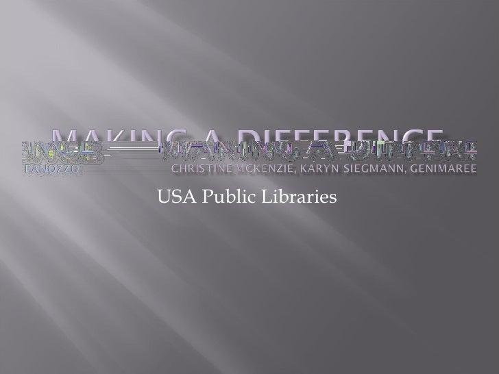 USA Public Libraries