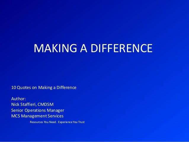 Quotes About Making A ... Quotes About Making A Difference