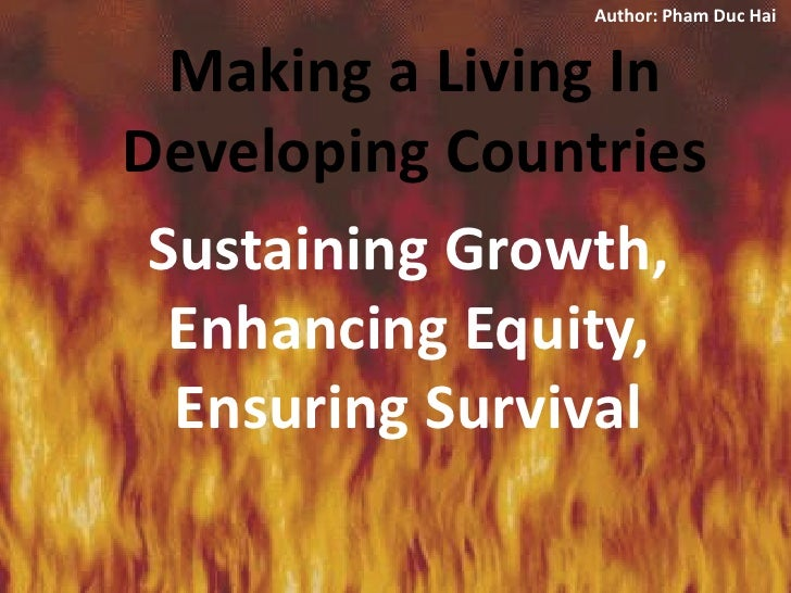 Making A Living In Developing Countries