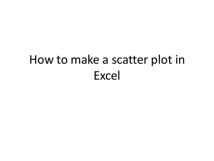Making an xy scatter plot