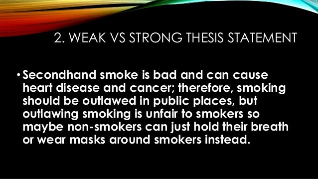 second hand smoking thesis statement
