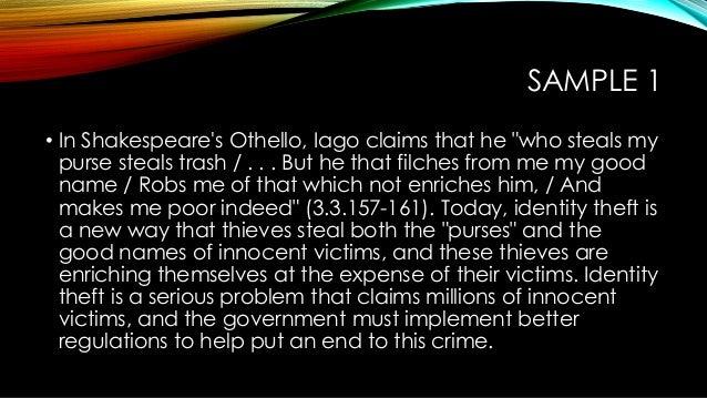 Othello thesis statements