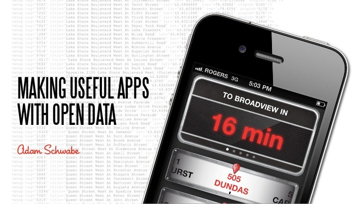 Making Apps with Open Data