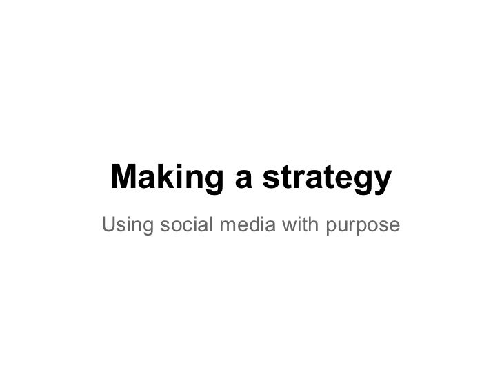 Making a social media strategy