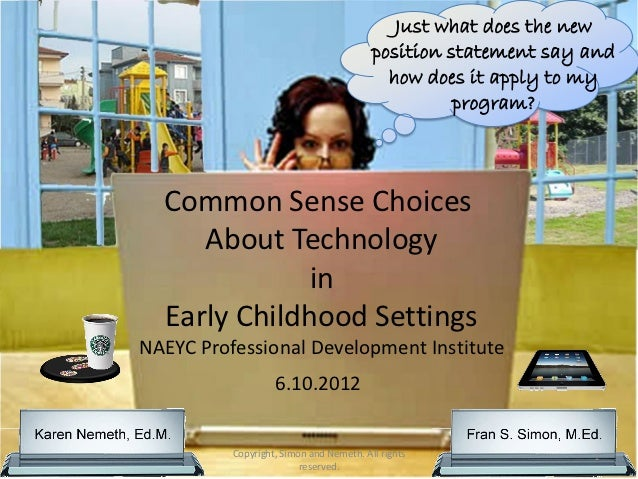 Making common sense choices about technology