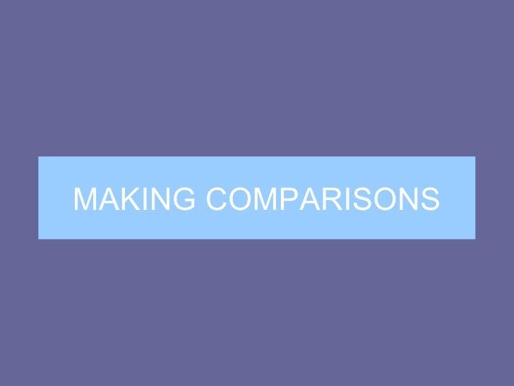 NB1 & NB2: Making Comparisons