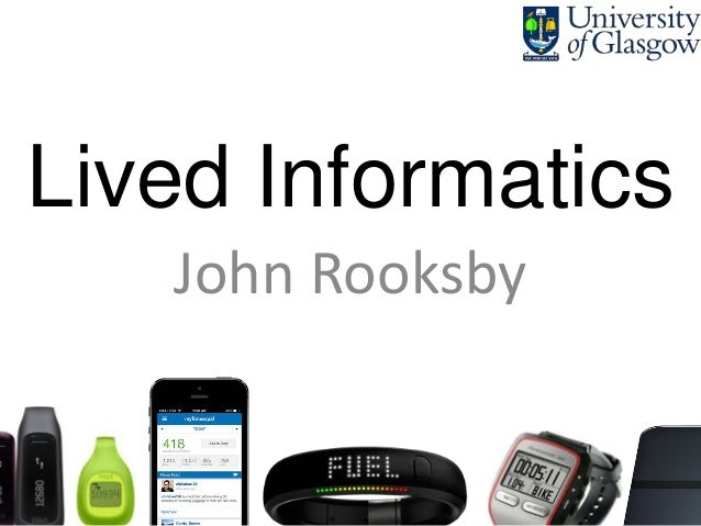 Lived Informatics John Rooksby