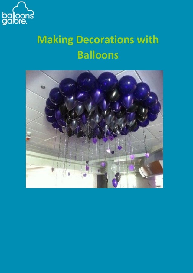 Making decorations with balloons guide for Balloon decoration guide