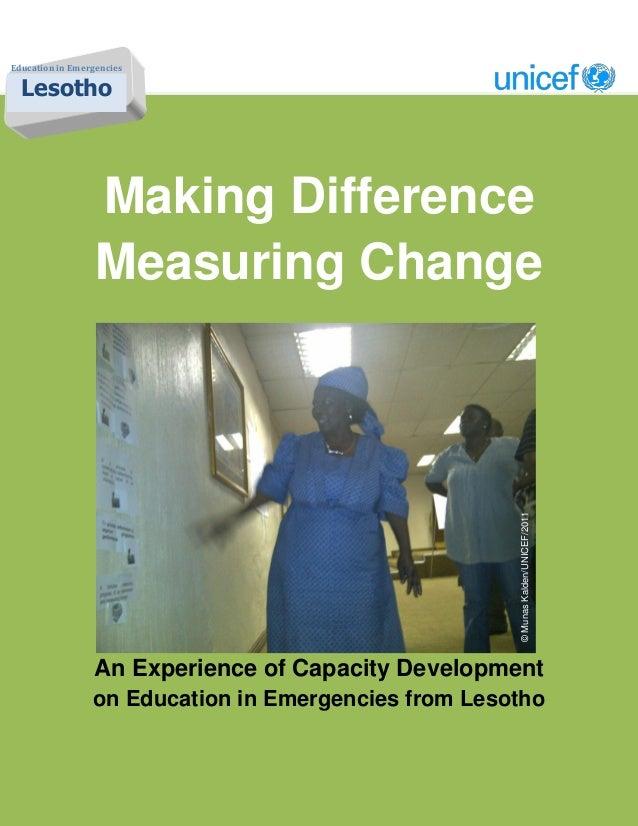 Making difference measuring change by munas kalden