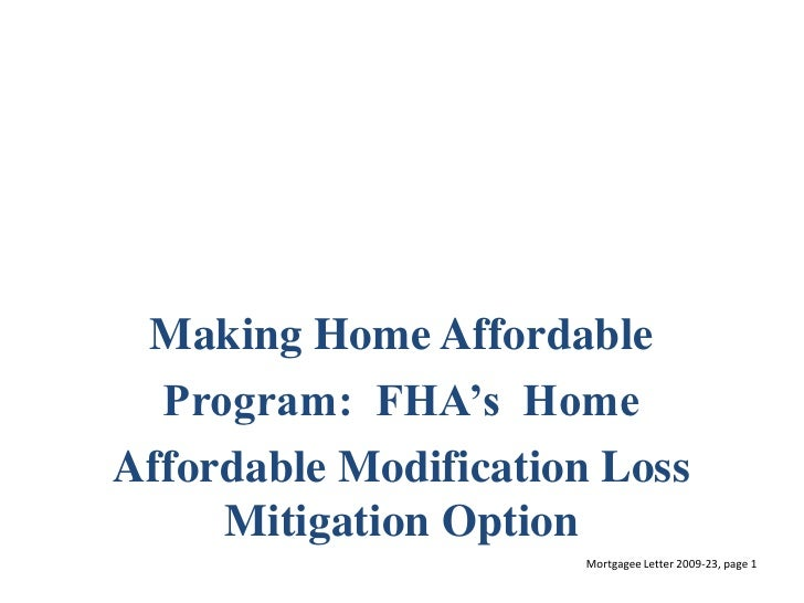 Making home affordable parrilla Home affordable modification program