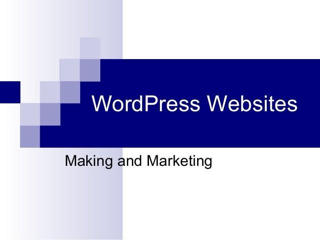 WordPress Websites Making and Marketing