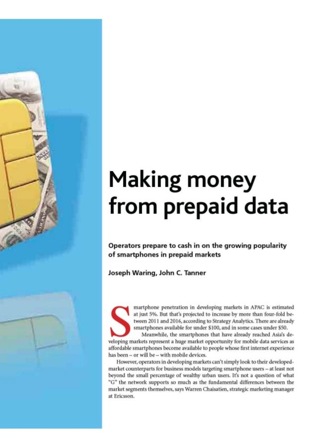 Making Money from Prepaid Mobile Data