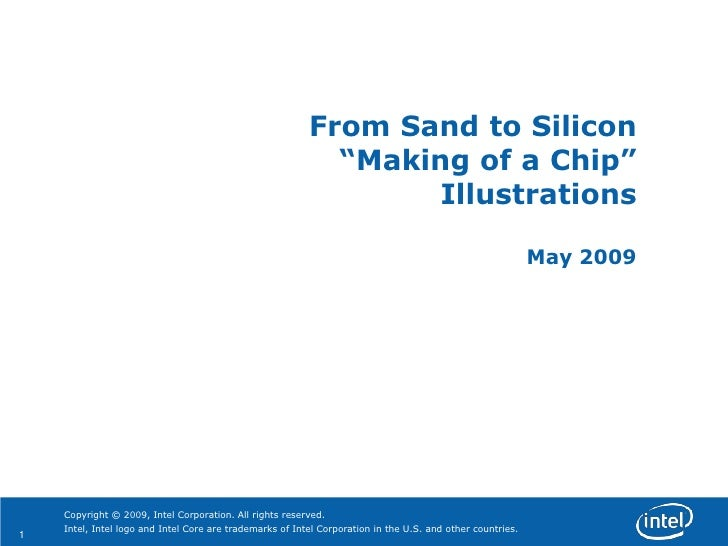 """From Sand to Silicon                                                             """"Making of a Chip""""                       ..."""