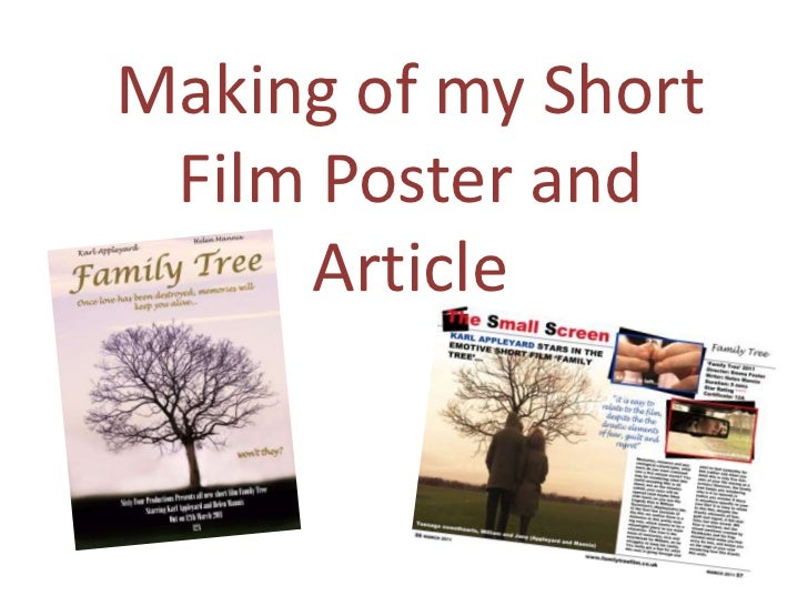 Making of my Short Film Poster and Article<br />