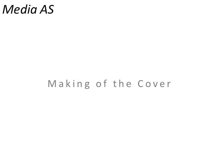 Media AS<br />Making of the Cover<br />