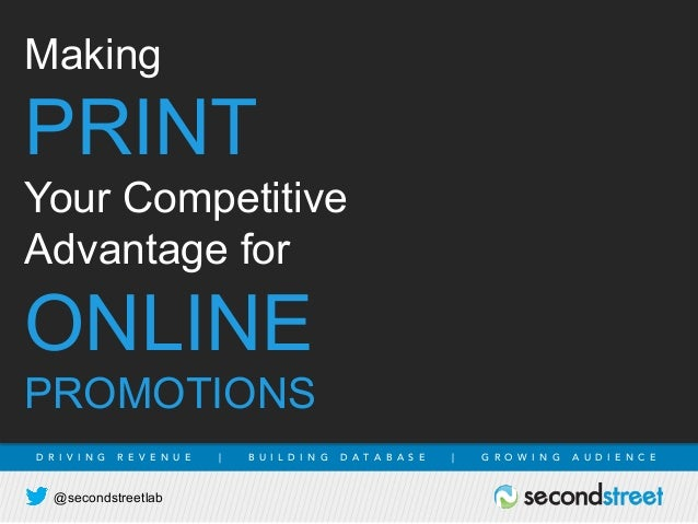Making Print Your Competitive Advantage for Online Promotions