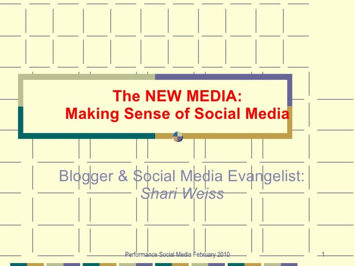 Making Sense Of Social Media 2010