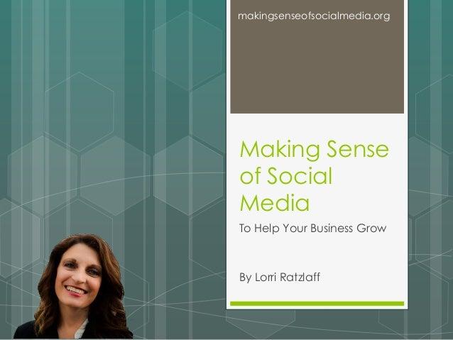 Making Sense of Social Media Pan Experience - August 8, 2014
