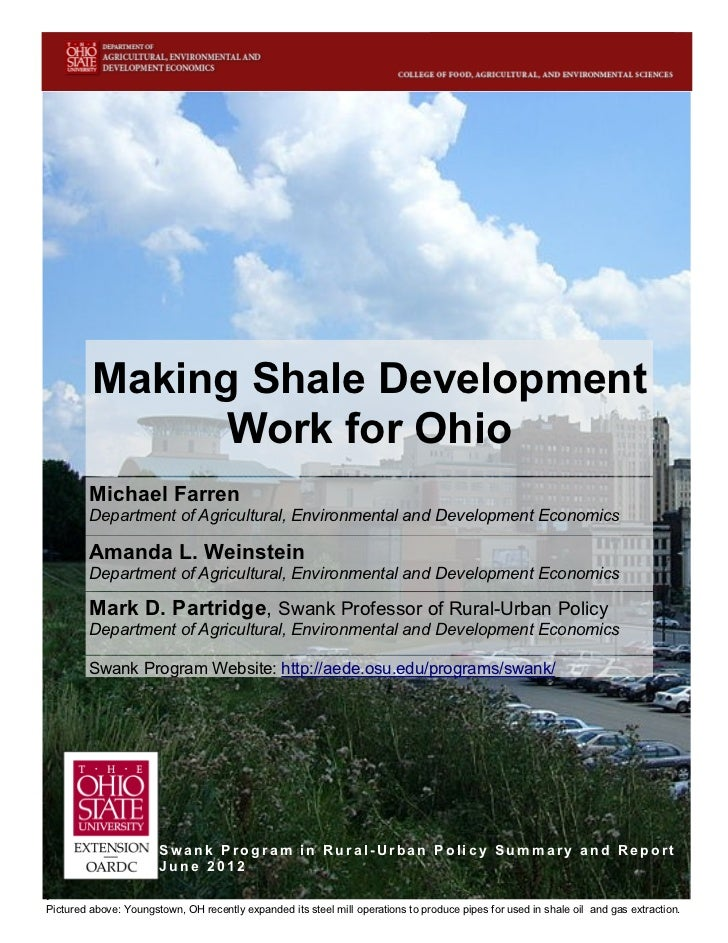 Making Shale Development Work for Ohio