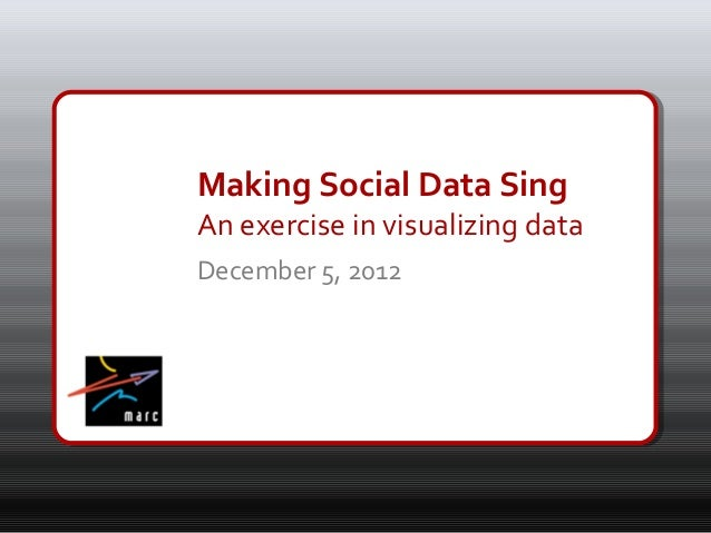 Making Social Data Sing
